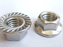 Flange nut with knurkle